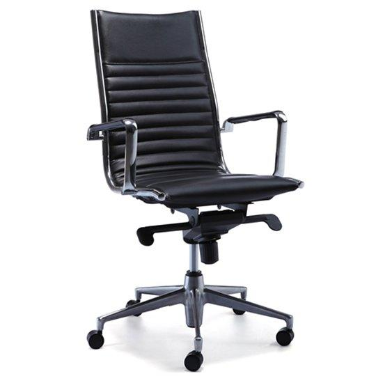25B-1P5 black leather chair