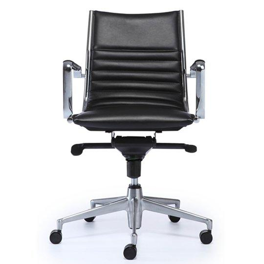 25C-1P5 mid back leather chair